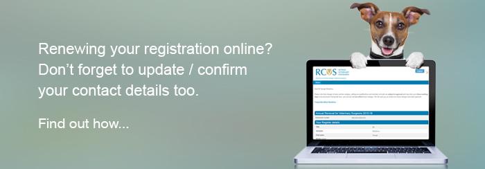 Renewing your registration online? Don't forget to update/confirm your contact details too. Find out how...