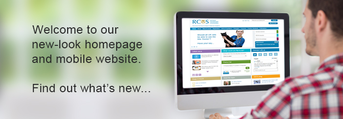 New RCVS homepage