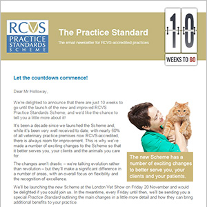 PSS launch - 10 weeks to go e-newsletter
