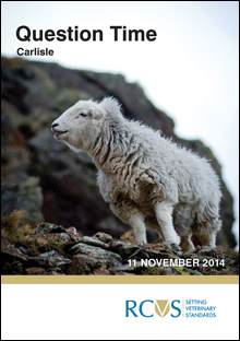 RCVS Question Time invite, Carlisle