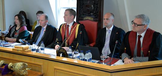 From left: Amanda Boag, Gordon Hockey, Stuart Reid, Nick Stace and Bradley Viner