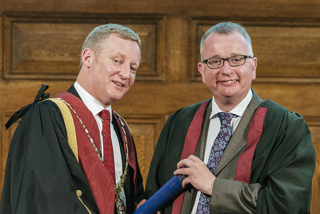 Stuart Reid and Professor Kenneth Smith FRCVS