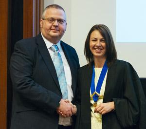 Matthew Rendle with Liz Cox
