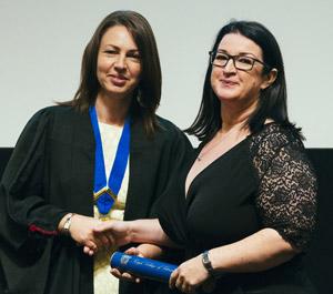 Liz Cox with Louise O'Dwyer