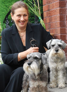 Caroline Freedman, with her dogs Oscar and Ollie