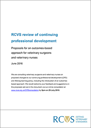 RCVS CPD review 2016 - proposals