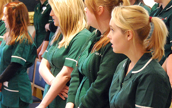 Three veterinary Nursing students
