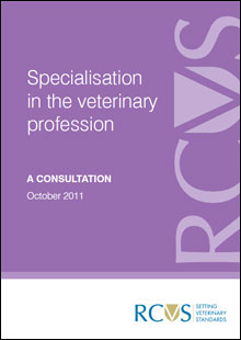 Specialisation in the veterinary profession