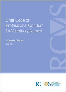 Draft Code of Professional Conduct of Veterinary Nurses