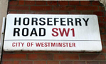 Horseferry Road road sign