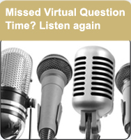 Listen to Virtual Question Time webinar
