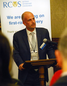 Nick Stace speaking at the House of Lords