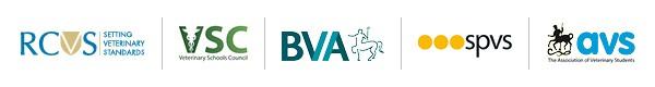 Logos for RCVS, VSC, BVA, SPVS and AVS