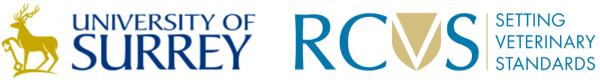 University of Survey and RCVS logos