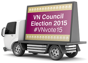 VN Council election ad van