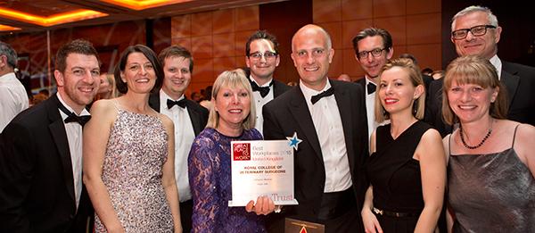 RCVS staff with GPtW award (Photo credit: Carmen Valino)