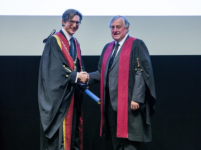 Barry Johnson receives the Queen's Medal at RCVS Day 2017
