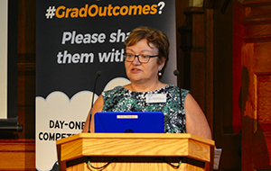 Professor Susan Dawson, Chair of the RCVS Education Committee, at the Graduate Outcomes pre-launch in October 2018