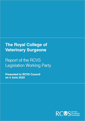 Cover of the Legislation Working Party Report to Council (June 2020)