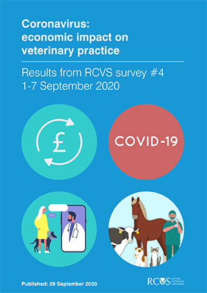 Front cover of RCVS Covid Impact Survey 4