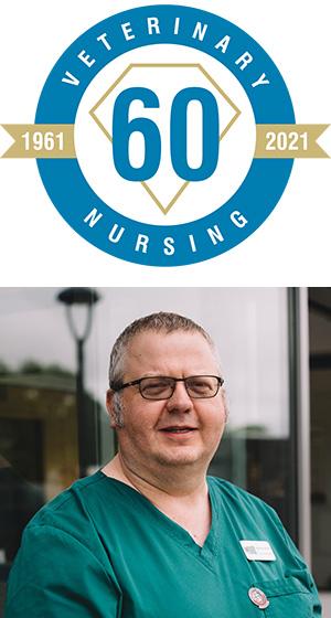 Veterinary Nursing 60: 1961 - 2021 logo and Matthew Rendle