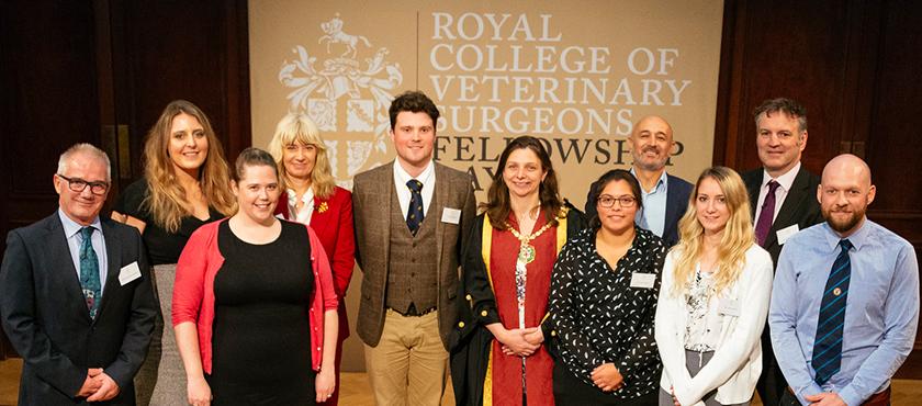 Veterinary students at Fellowship Day 2018