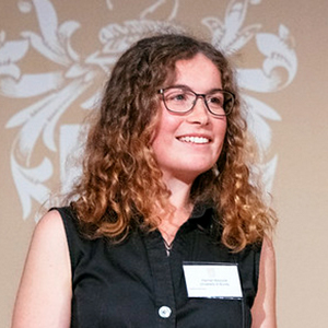 Hannah Boocock presenting at Fellowship Day 2019
