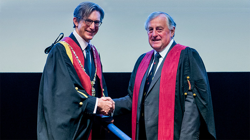 Queen's Medal recipient, Dr Barry Johnson