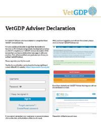 VetGDP Advisor Declaration