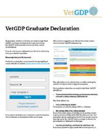 VetGDP Graduate Declaration image cover