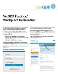 VetGDP Practice Workplace Declaration Cover