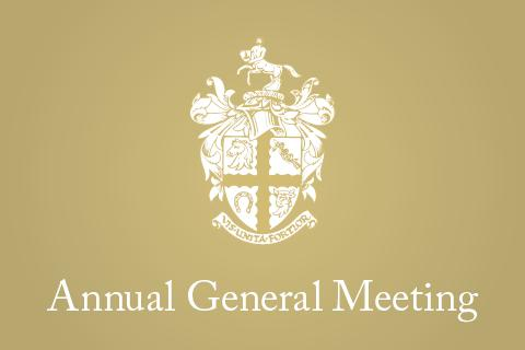 "Graphic of the RCVS crest and the words ""Annual General Meeting"""