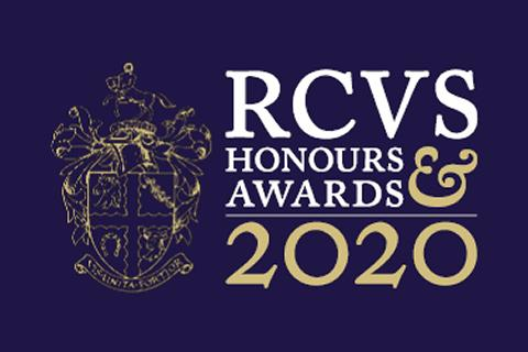 "Graphic with words ""RCVS Honours & Awards 2020"""