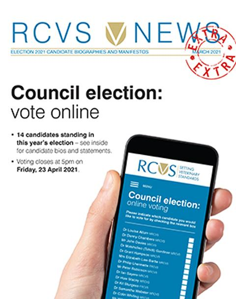 Cover of the RCVS Council 2021 Election Candidate Booklet